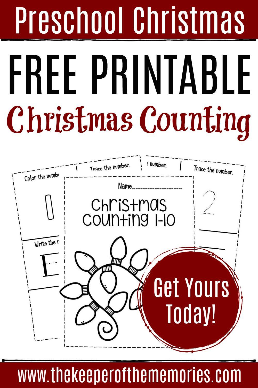 Free Printable Numbers Christmas Preschool Worksheets Preschool Worksheets Preschool Christmas Counting Activities Preschool [ 1500 x 1000 Pixel ]