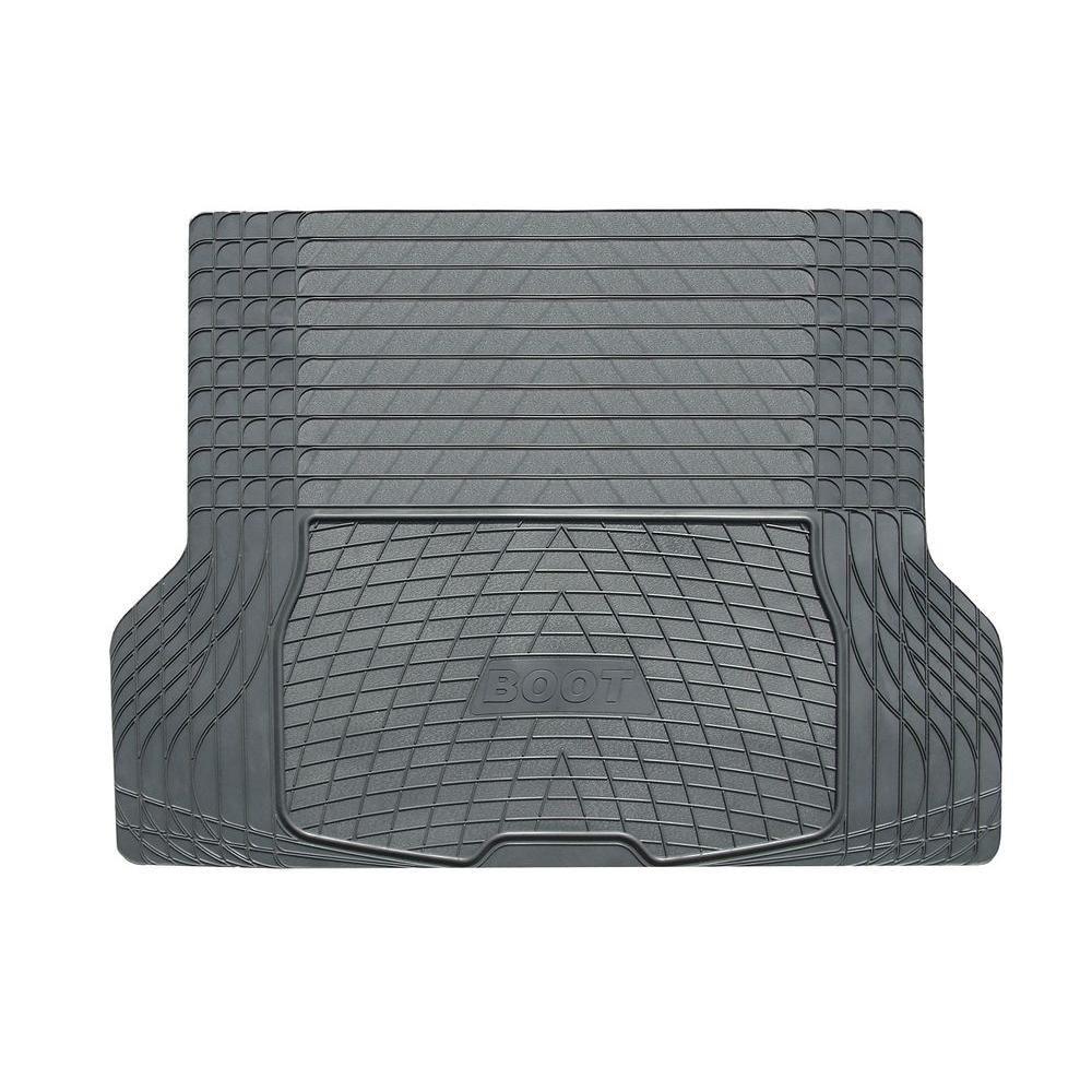 Black Heavy-Duty 55 in. x 42 in. Rubber Cargo Mat