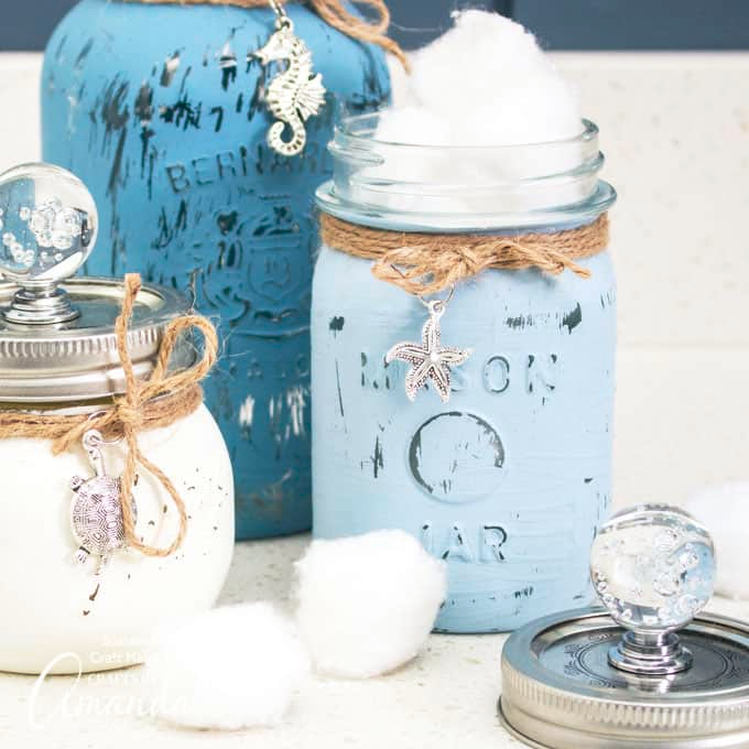 Top 12 Amazing DIY Mason Jar Craft Projects! – Best place for crafters, DIY and fashion enthusiasts! #masonjarbathroom