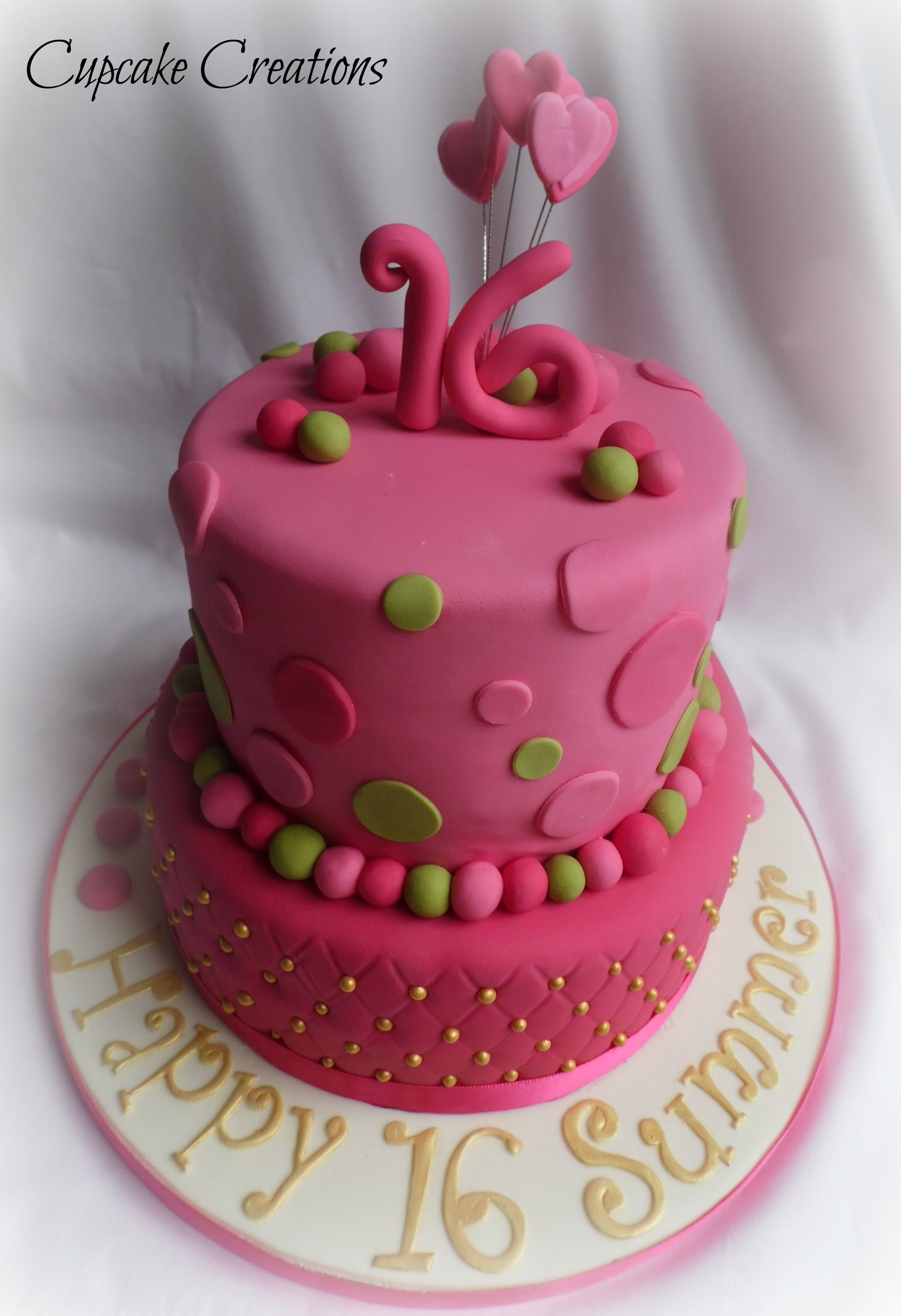 16th Birthday 2 Tier Cake