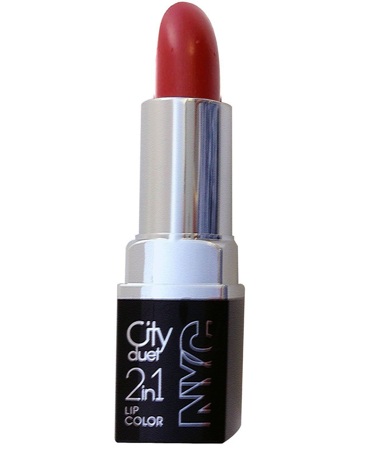 13 Sensational Schemes That Are: NYC City Duet Lip Color, 2-in-1, The Red Hots 425, 0.13 Oz