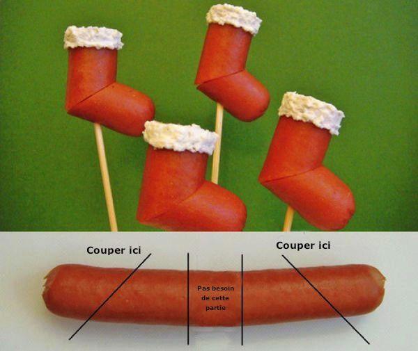 Pour l 39 ap ro saucisses knaki pour bottes de p re no l - Cuisiner des saucisses fumees ...
