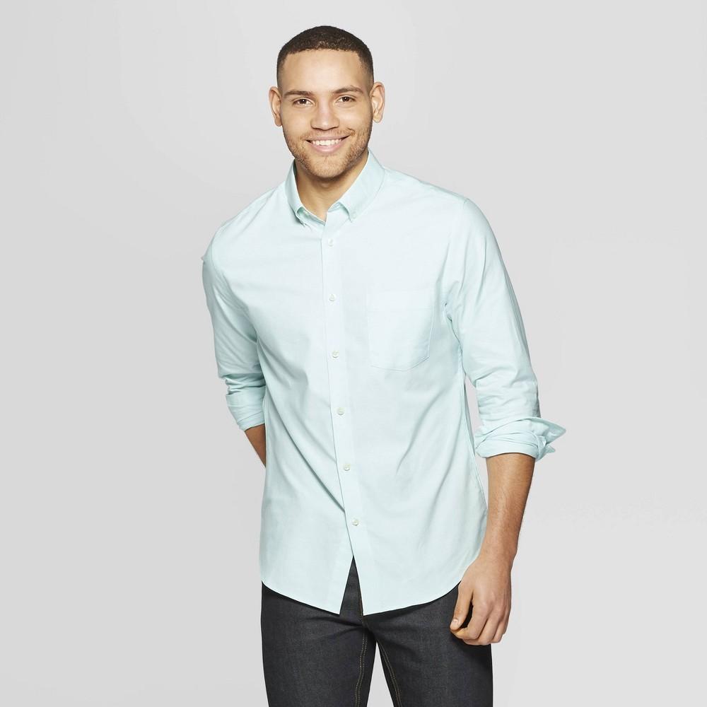 7570bd1afc8 Men's Standard Fit Long Sleeve Whittier Oxford Button-Down Shirt -  Goodfellow & Co Alpine 2XL, Green