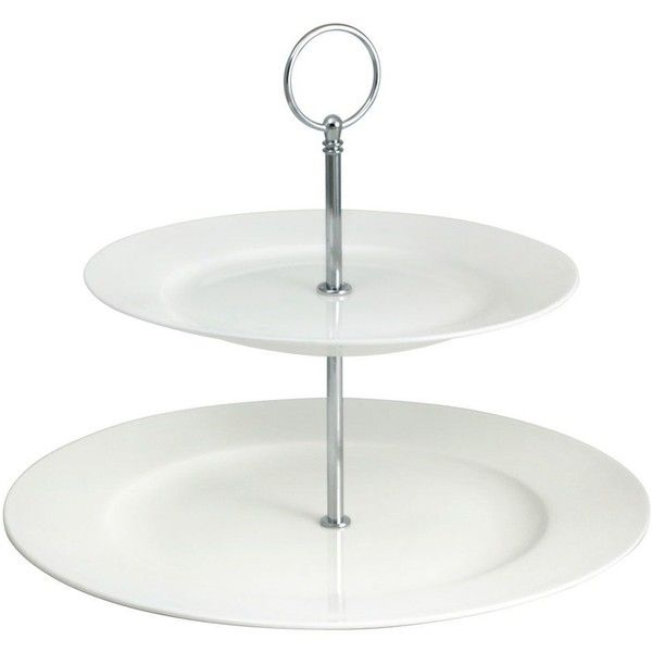 Lucerne White 2 Tier Server 30 Liked On Polyvore Featuring Home Kitchen Dining Serveware White Plates White Serve Tiered Server Bamboo Plates Tiered