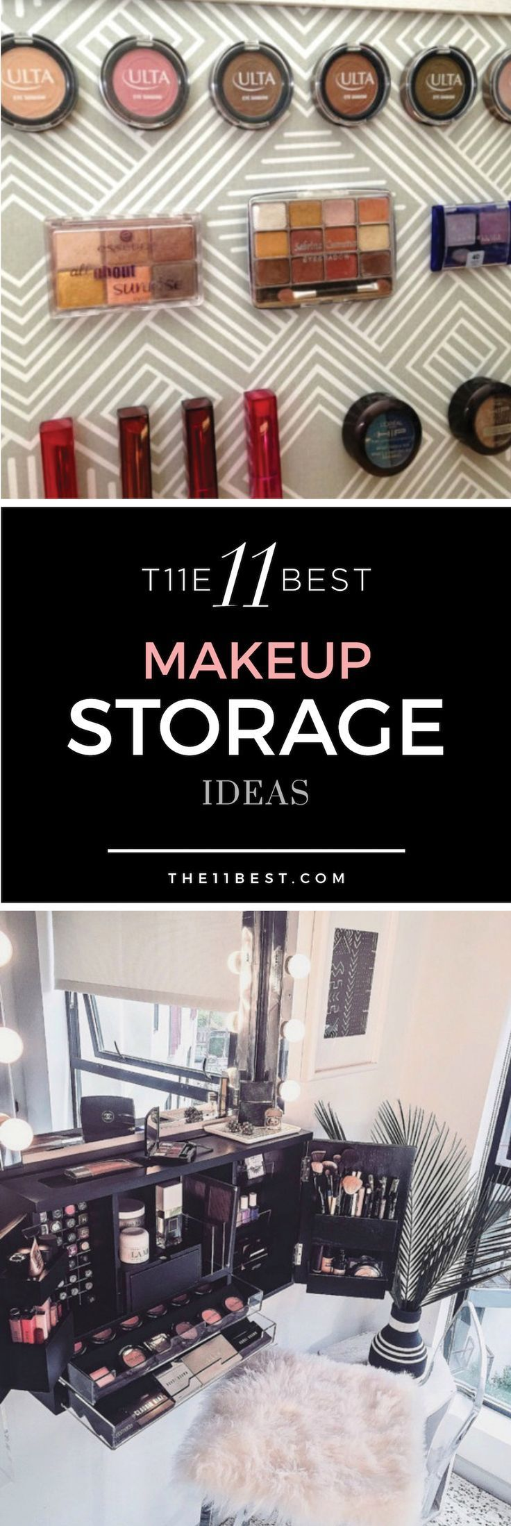 I NEED THIS! Makeup storage and organization ideas. DIY