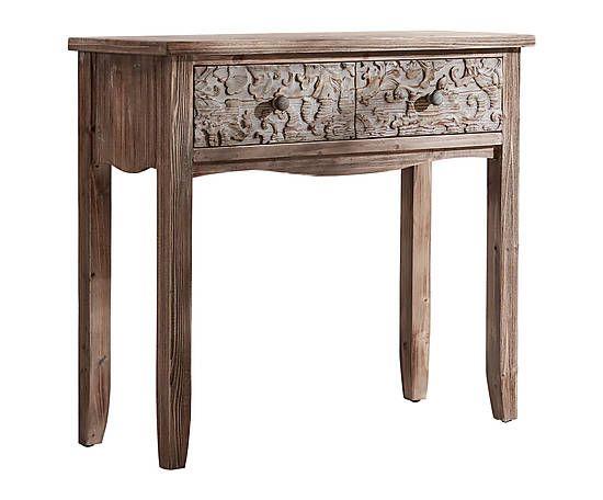 Consola de madera de abeto Texture