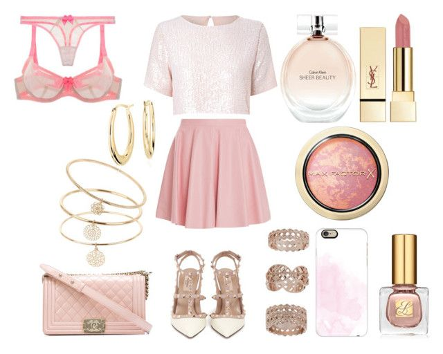 """""""Без названия #3335"""" by southerncomfort ❤ liked on Polyvore featuring Drome, Valentino, True Decadence, Chanel, Miss Selfridge, Blue Nile, Claudette, Casetify, Calvin Klein and Estée Lauder"""