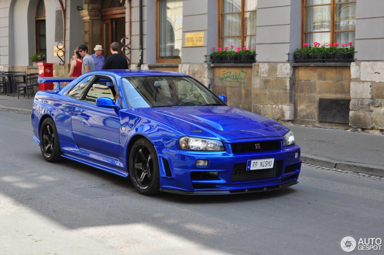 Blue Nissan Skyline R34 Gt R V Spec Ii Nur Everything Cars