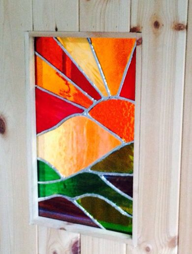 Deb S New Kitchen Door Window Made By Helen Mobbs New Kitchen Doors Kitchen Doors Stained Glass