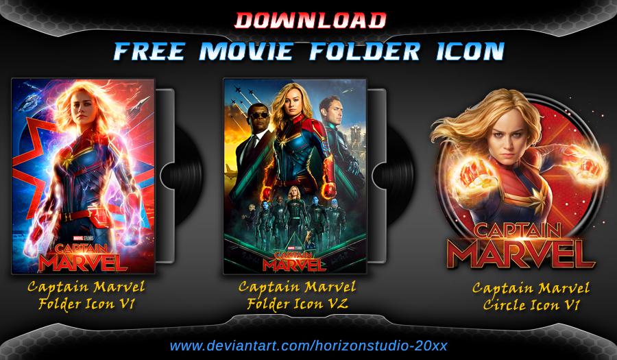Captain Marvel (2019) Folder Icon Pack Movie Captain