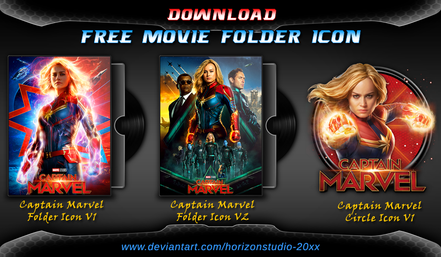 Captain Marvel (2019) Folder Icon Pack | Movie | Folder icon