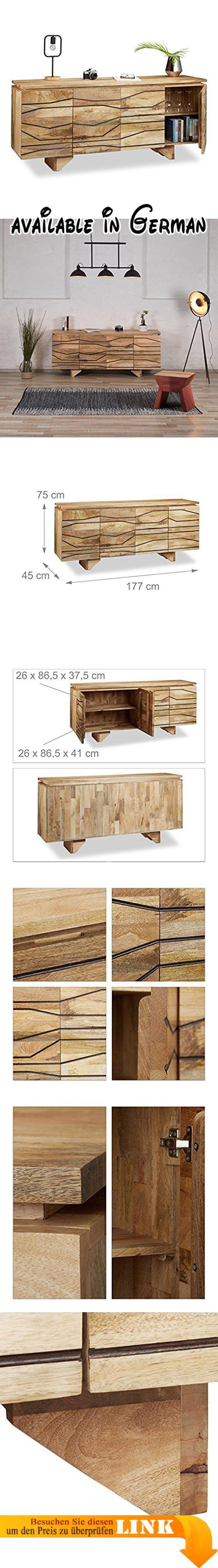 B076JG41QY : Native Home Sideboard mit Muster Kommode Mango-Holz ...