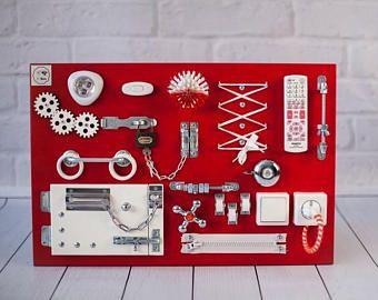 busy brett activity board sensor brett montessori. Black Bedroom Furniture Sets. Home Design Ideas