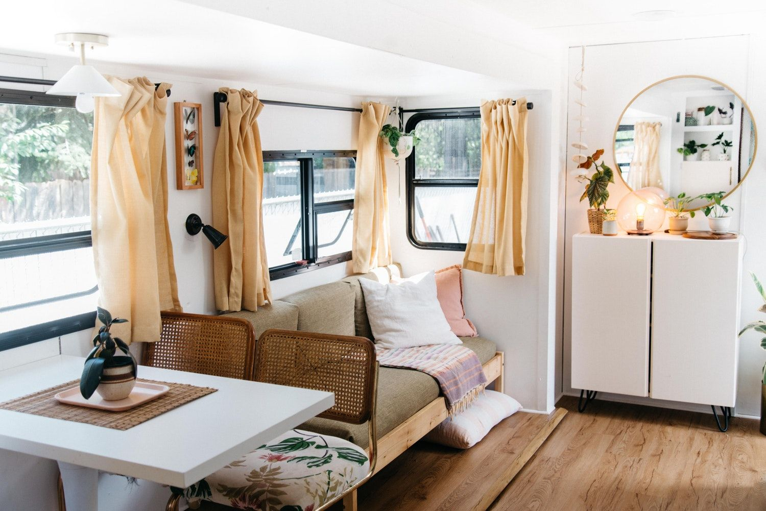 A Tiny Gutted RV Is Now a Fun Family Home for 4 Tiny