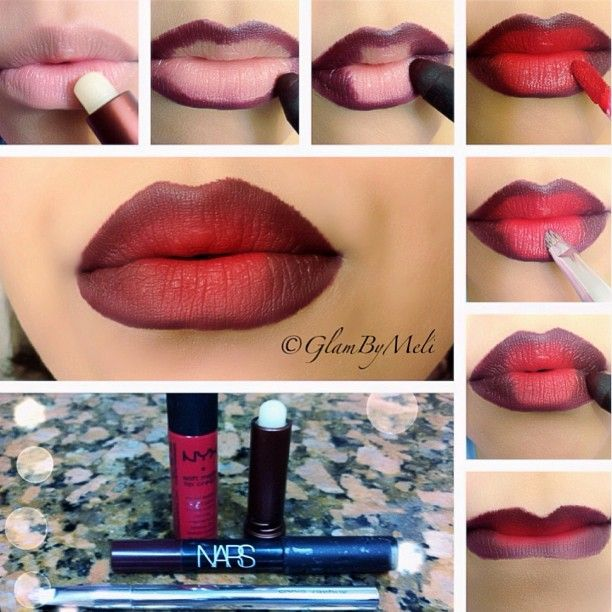 Quick Pictorial on my #Vamplips!!! .Moisturizing your lips  is a must I used #Sugar lipbalm. . Line you lips with #Nars jumbo lip pencil/color Violet. .Fill in the outer corners top and bottom of the lip. .Next take #Nyx Matte lip Creme/color Amsterda
