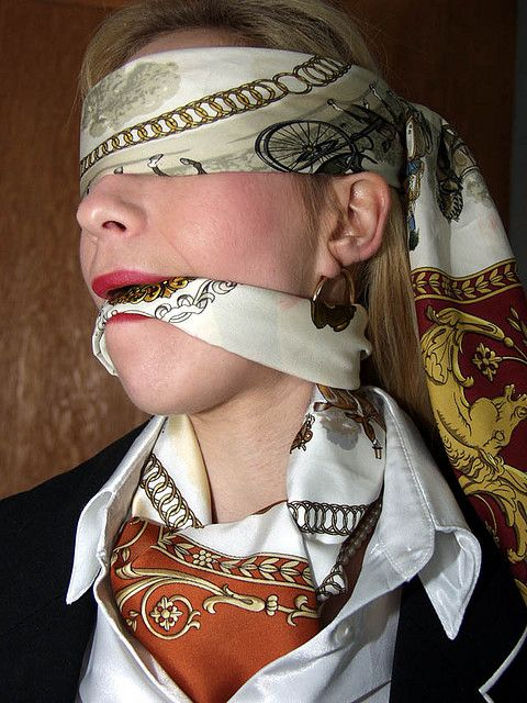 Silk scarves bondage