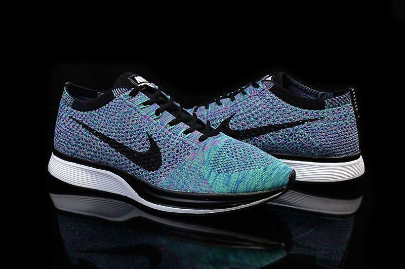 sports shoes 086ea 0c21d ... nike flyknit racer purple sky blue ...