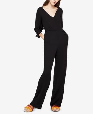 30a9504fcc22 BCBGeneration Ruffled Open-Back Jumpsuit - Black XS