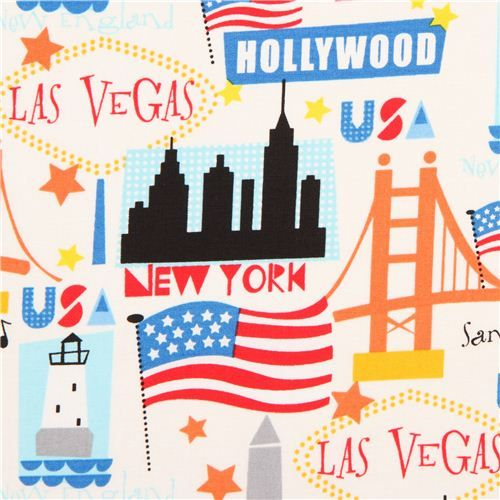 USA Travel Destination Fabric By Timeless Treasures