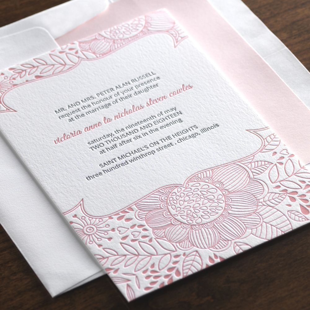 Ethereal Wedding Invitation by Checkerboard Ltd. We sell ...