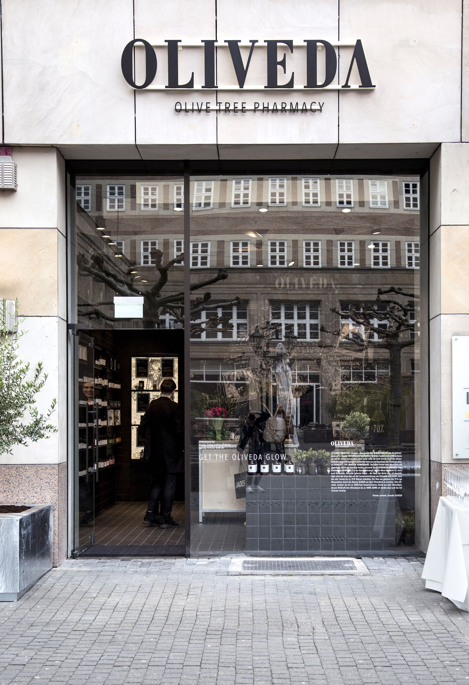 Oliveda Olive Tree Pharmacy Store Dusseldorf Flagship Store