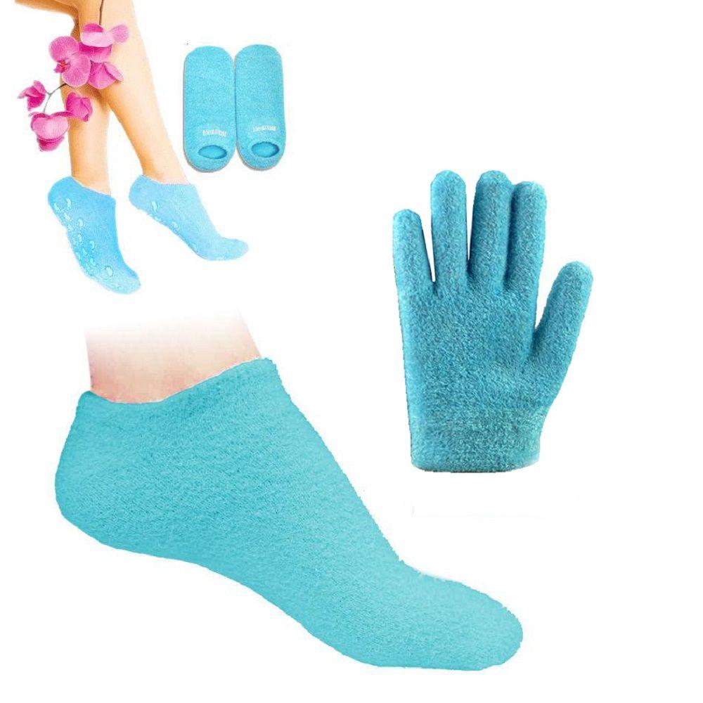De silicium gel gants et chaussettes Blanchissent La Peau Hydratant Traitement spa gant chaussette Hydrater Adoucir soins de La Peau meilleur cadeau pour elle