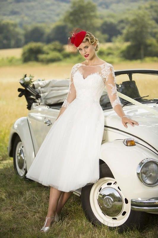 Brighton Belle Short Tea Length Wedding Dress 1056 Polly | Wedding ...