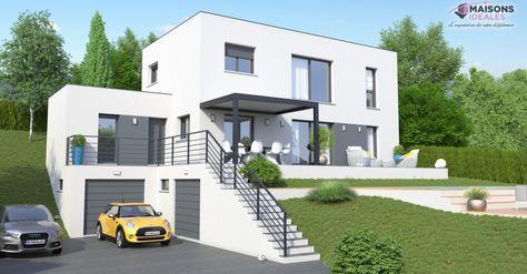 Maison contemporaine en Rhone-alpes | Maisons Idéales | Construction maison, Prix construction ...
