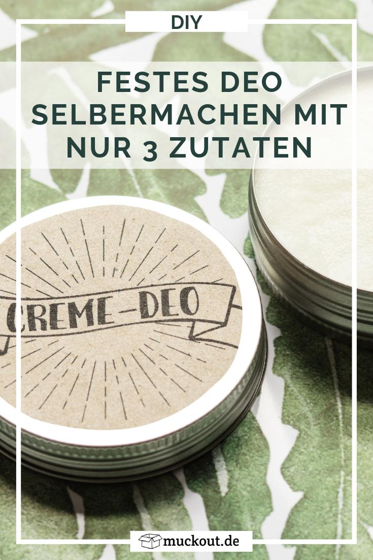Zero Waste: Deo-Creme selbermachen, die wirklich funktioniert – muckout.de – Onlineshop für DIY & Kreativ-Werkstatt