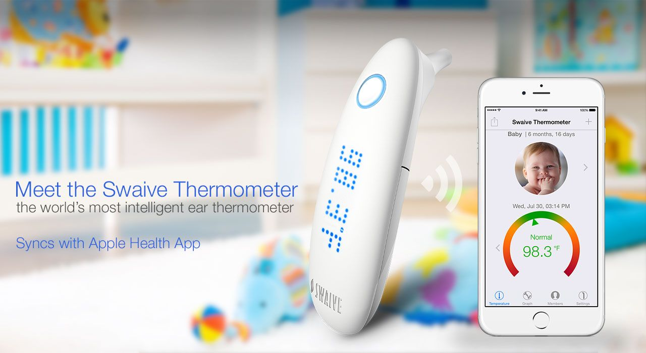 The Swaive Thermometer is the world's most intelligent ear