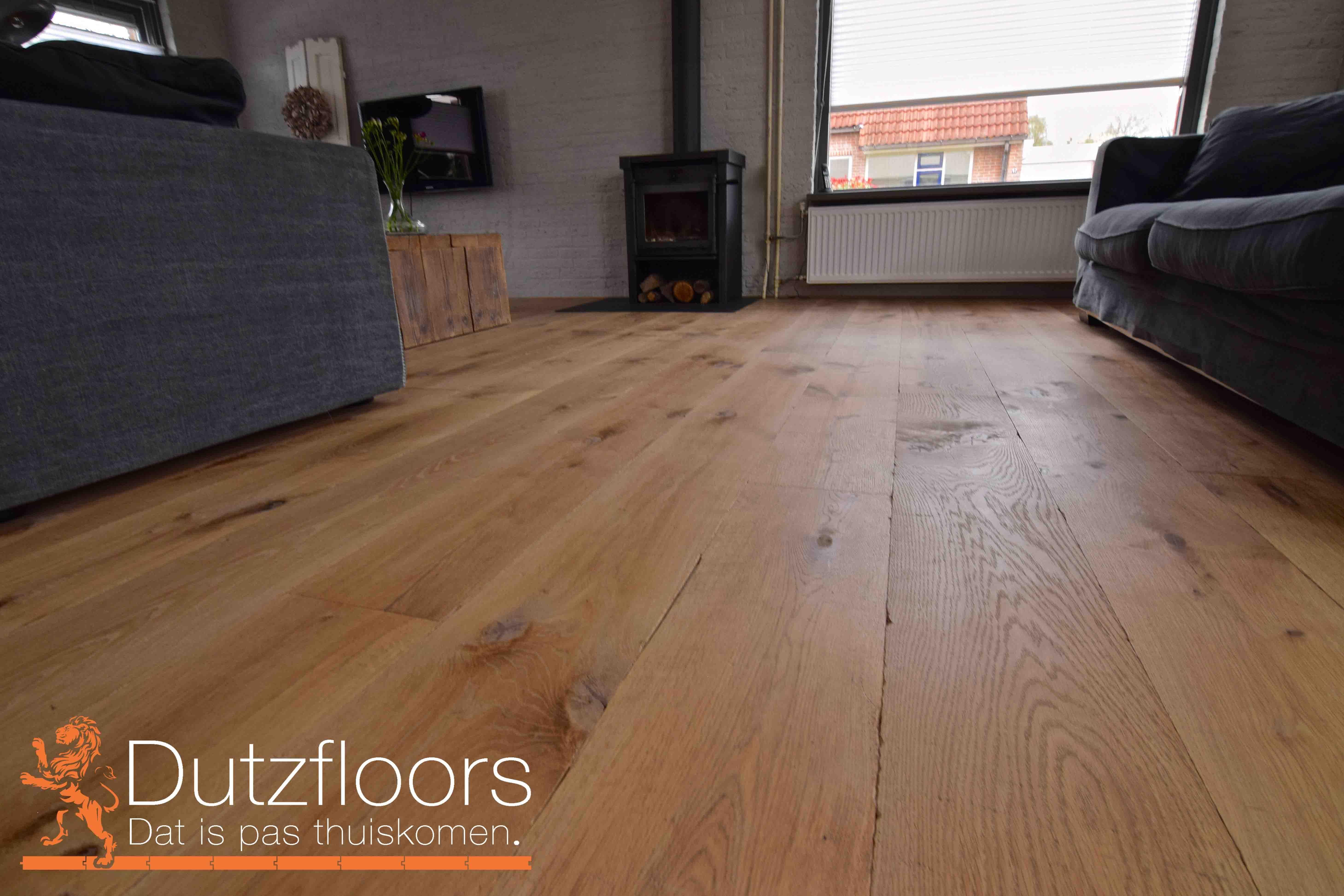 Europees eiken houten vloer zwaar verouderd zonder v groef en