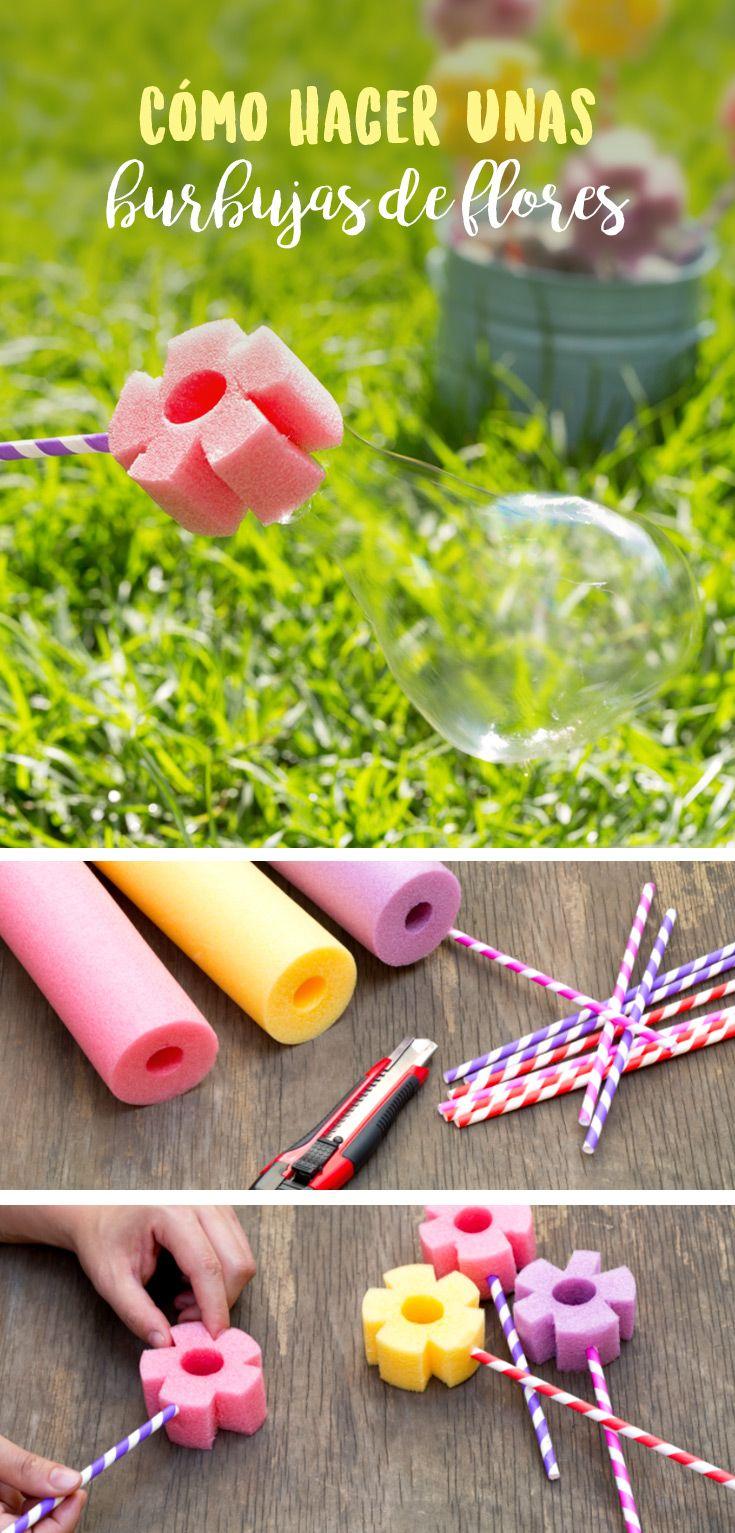 Cómo hacer unas Burbujas de Flores   Flower, Manualidades and Ideas para