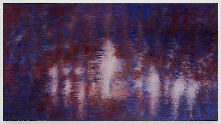 Bracha L. Ettinger  No title yet, no. 2 (St. Anne)  2003 - 2009, oil on canvas, 11 1/2 x 21 1/4 inches, 29 x 54 cm