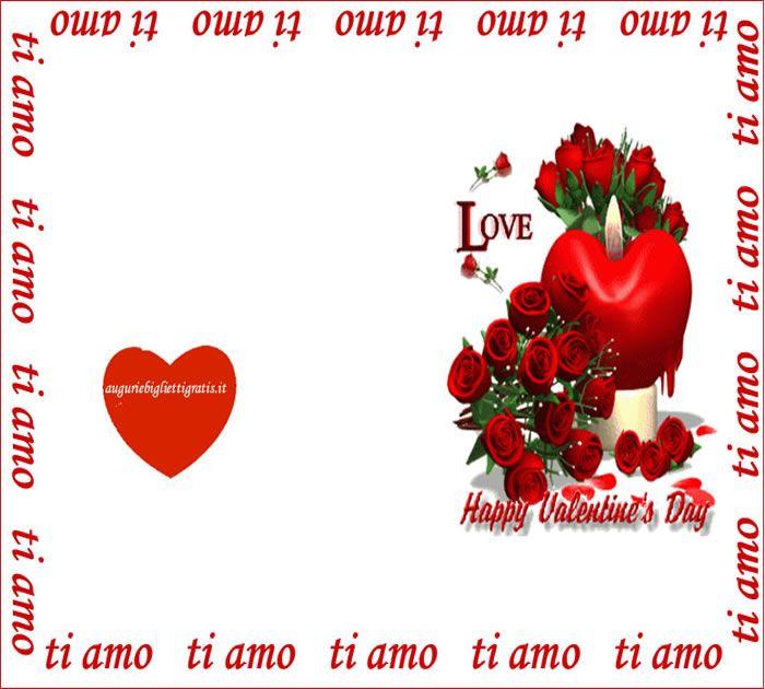Favorito biglietto di auguri per san valentino con rose rosse: stamapre e  KU98