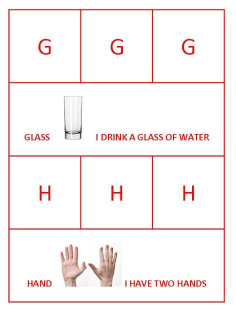 G for Glass and H for hand Bahasa inggris Pinterest - fresh invitation dalam bahasa inggris