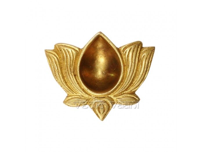 Lotus brass diya lamp buy online from india vedicvaani