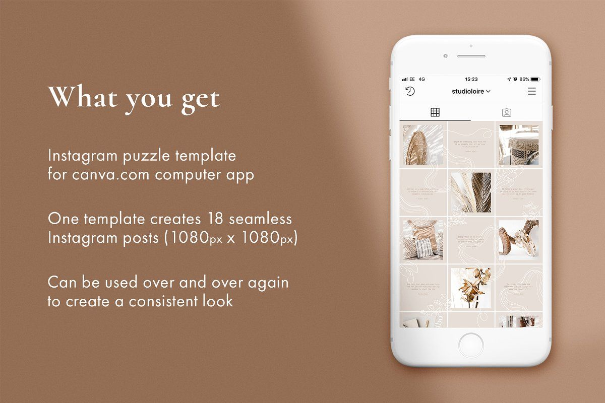 Clover Instagram puzzle for CANVA , Aff, Instagram