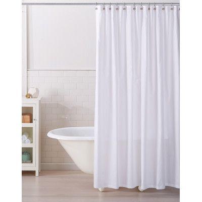 Home Fashion Design Monroe 100 Cotton Shower Curtain Color White