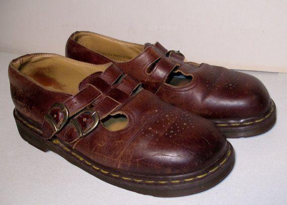 Vintage Dr Martens Mary Jane Platform Chestnut by SunsetStars, $12.99