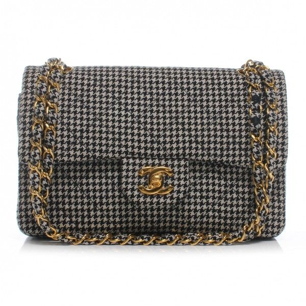 4ed7920e437b CHANEL Houndstooth Small Double Flap | Take that bag | Chanel ...