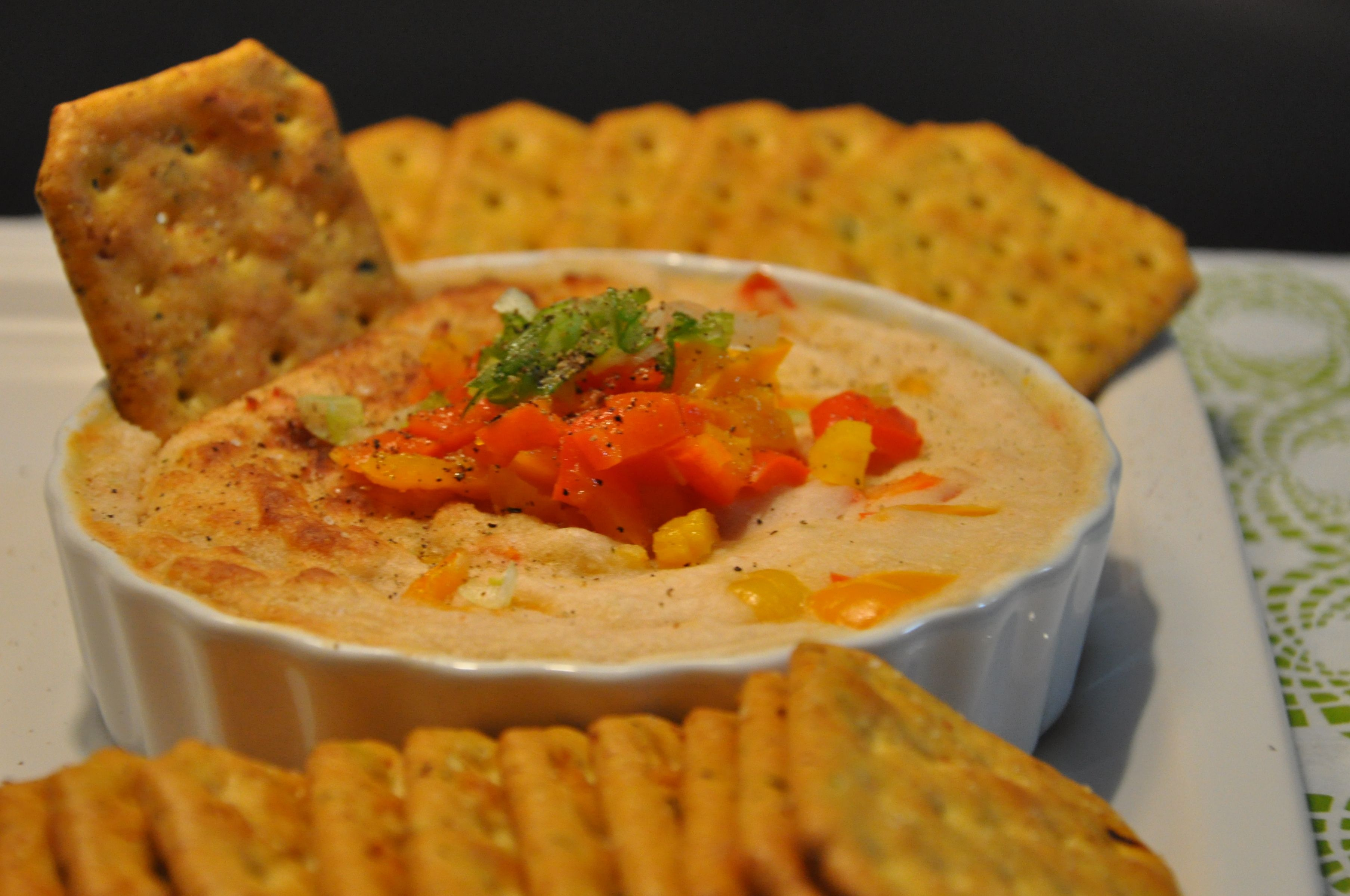 Warm Up White Bean Dip With Roasted Bell Peppers