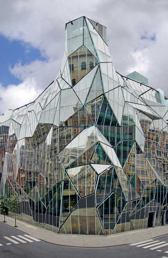 Health Department Building, Bilbao, Spain #design #architecture #silver #geometric #reflection