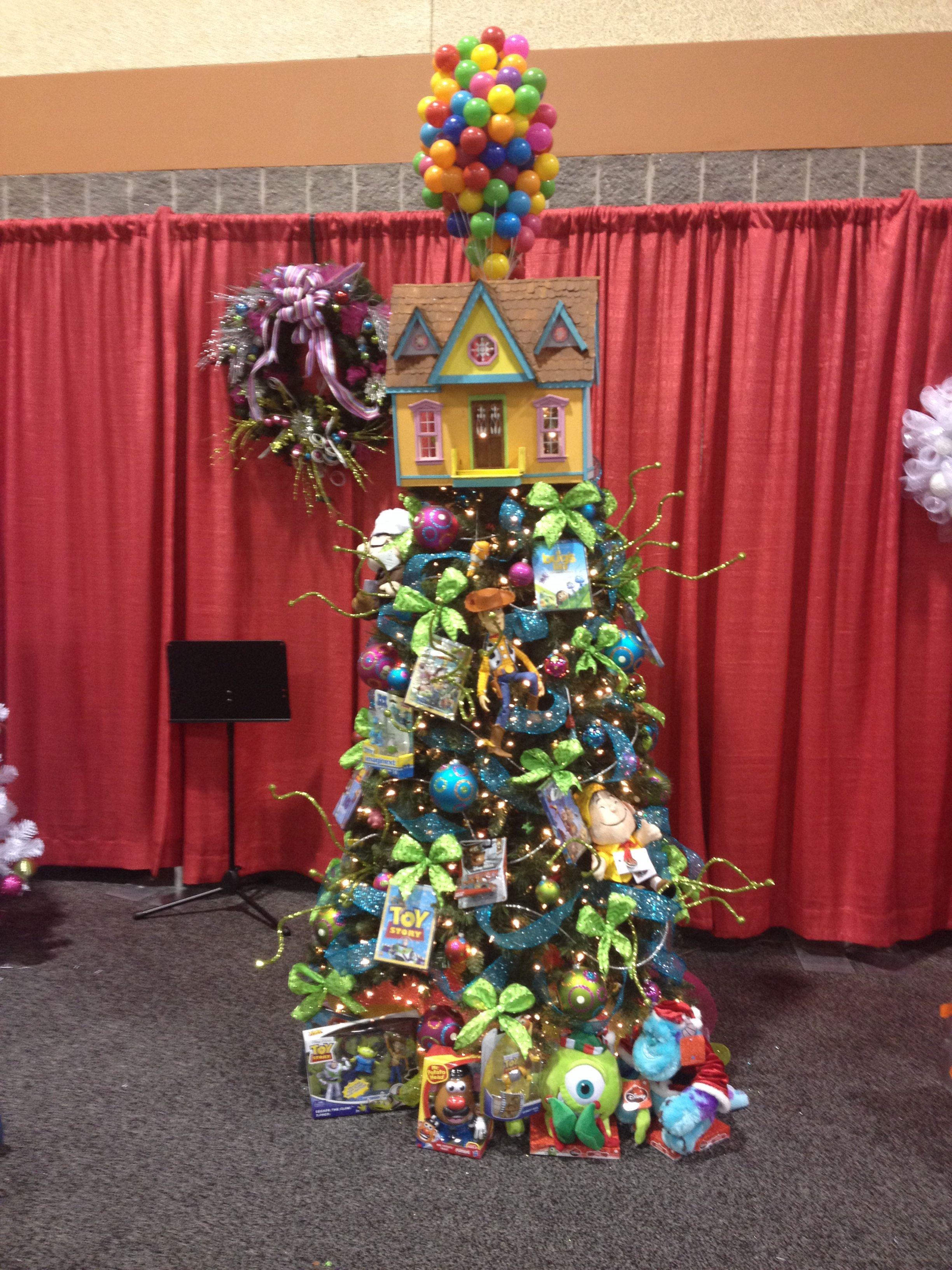 Disney Pixar themed Christmas tree