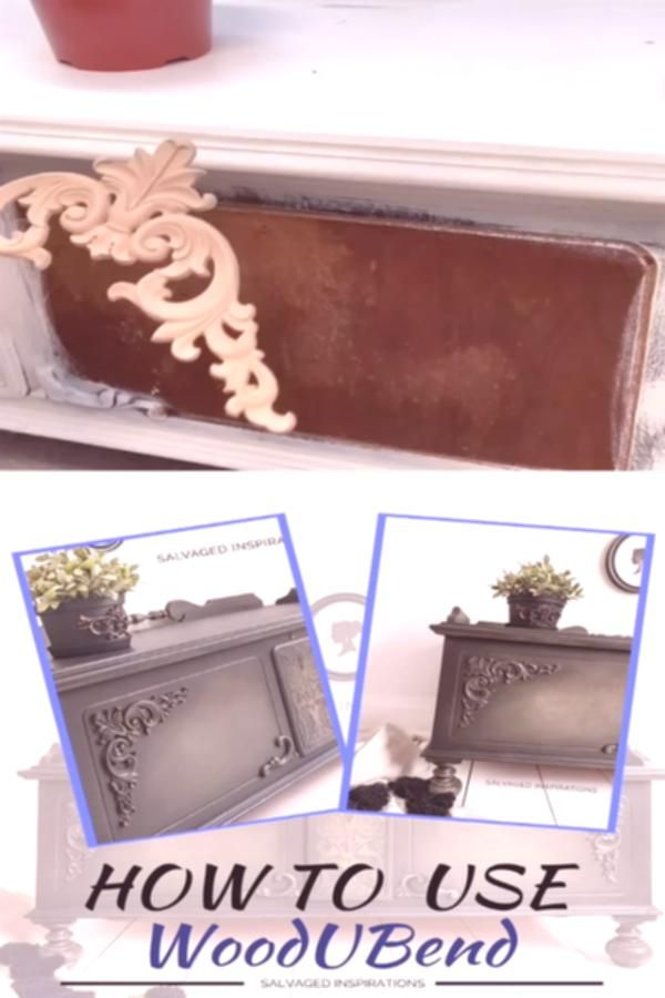 If youre looking for an easy way to fancy up plain or boring furniture this product is a gamechanger BENDABLE wood appliques molds and trim by WoodUBend There are over 3000 designs to choose from for every sort of furniture style or DIY project you can possibly imagine  siblog salvagedinspirations paintedfurniture woodubend appliques furnituretrim diyfurniture beforeandafter fur