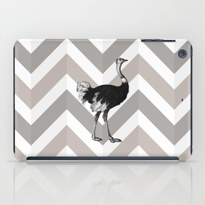 Ostrich Chevron iPad Case