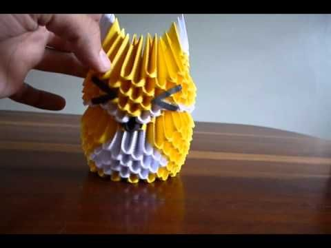 3D ORIGAMI FOX - YouTube