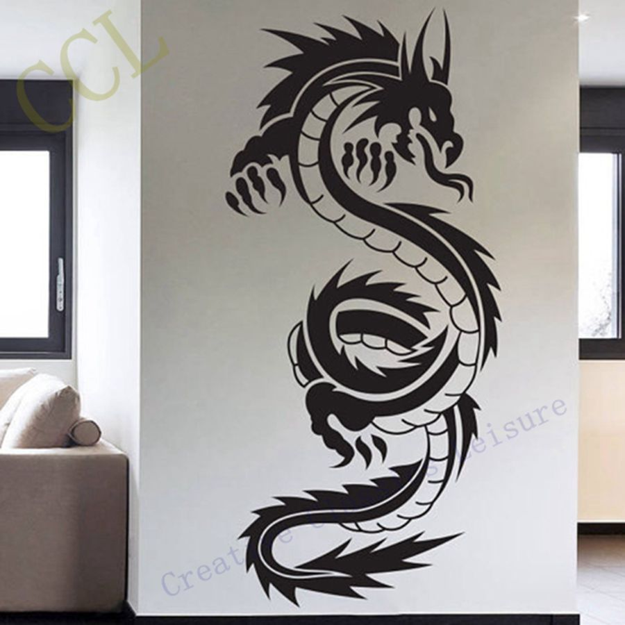 China Of Oriental Traditional Wall Stickers Dragon Vinyl Art Decor