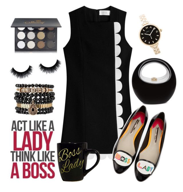 """""""Boss lady"""" by jaynebrowncreates ❤ liked on Polyvore featuring Victoria, Victoria Beckham, Sophia Webster, Marc by Marc Jacobs, Samantha Wills and Shany"""