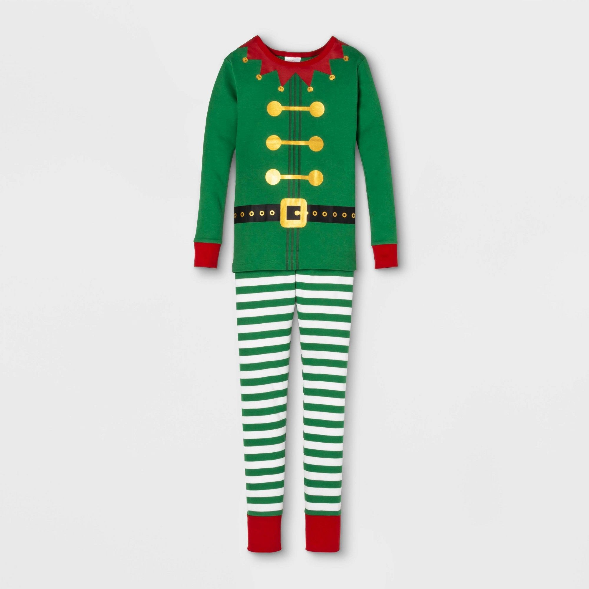 Kids' Holiday Elf Pajama Set Green 12, Kids