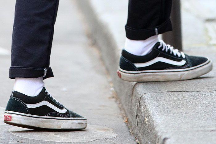0b5bfe4216 Kristen Stewart Steps Out in Paris with Rumored Girlfriend Soko in Vans   Old Skool  Sneakers
